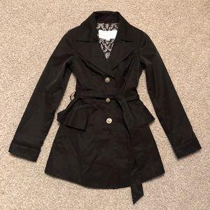 Jessica Simpson Black Trench/Rain Coat
